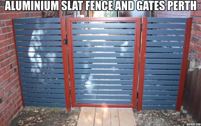 Aluminium Slat Fence And Gates Perth Slats Wooden Screen Installation