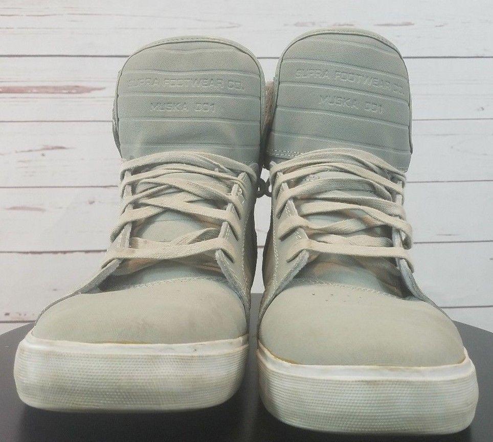 Supra Footwear Co. Muska 001 Mens Size 10.5 Gray Skateboard  SUPRA   Skateboarding 802cad935