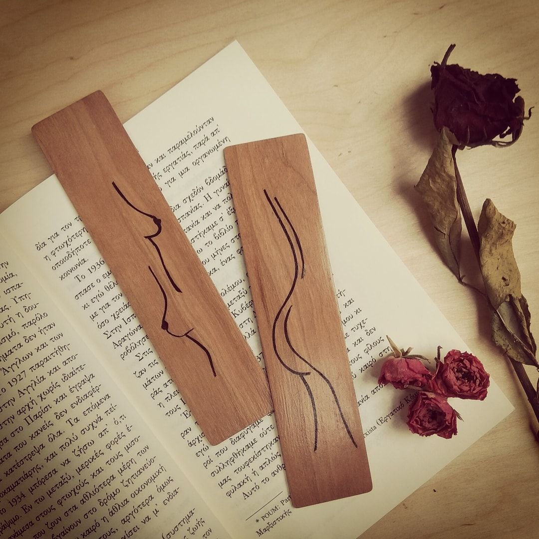 You dont have a soul You are a soul You have a body  Marquetry bookmarks collection Handmade wooden accessories For further information contact me