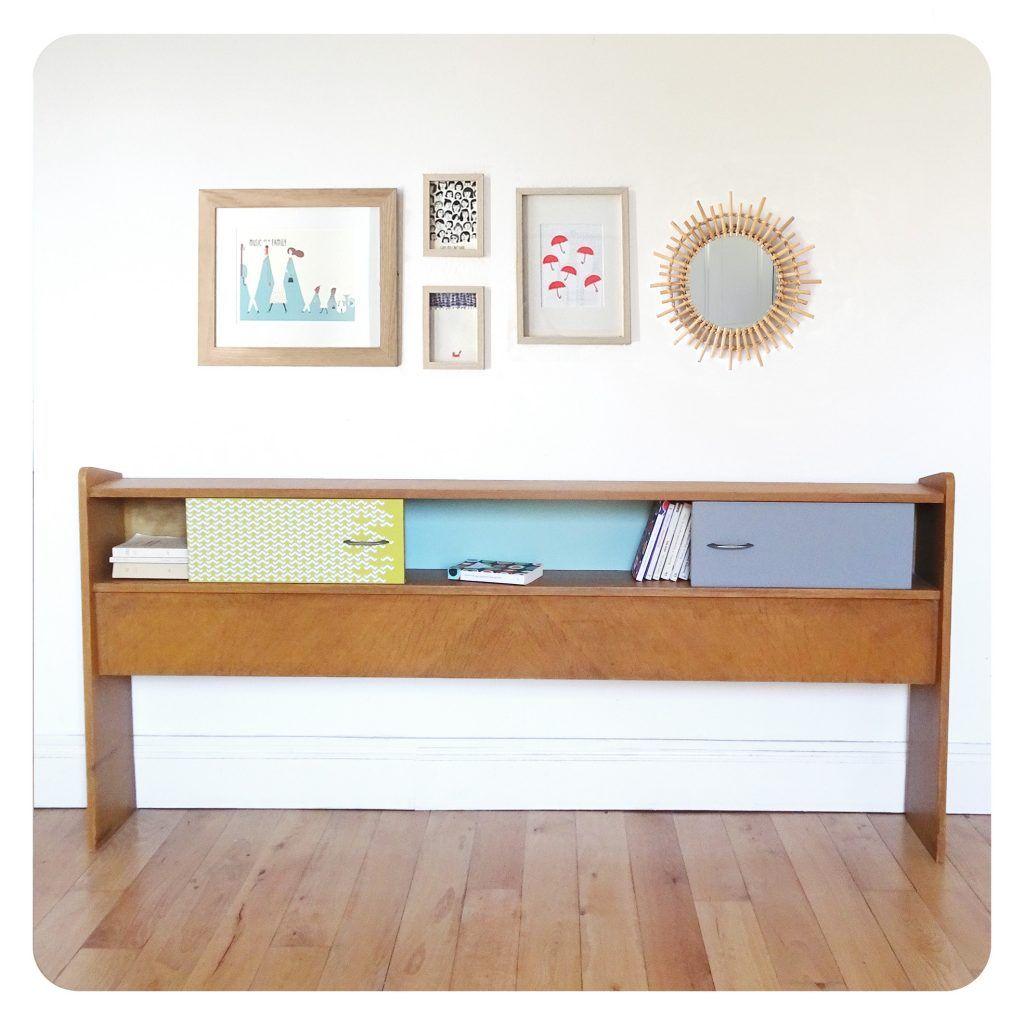 lit vintage deco appartement petit meuble