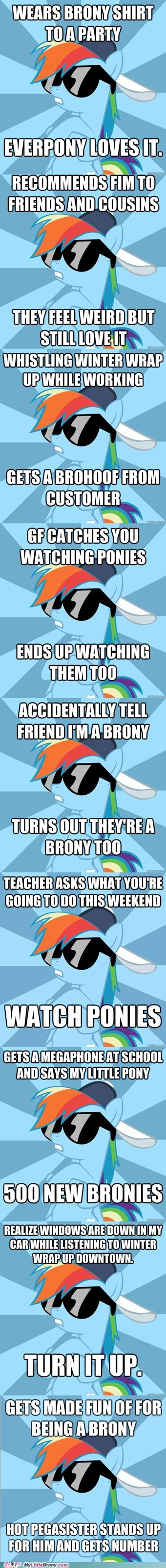 Rainbow Dash saying a few Brony words for us.