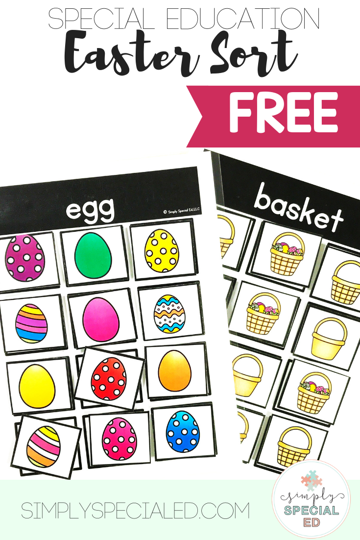 Free Easter Sorting Activity Simply Special Ed Sorting Activities Special Education Easter Preschool [ 1102 x 735 Pixel ]