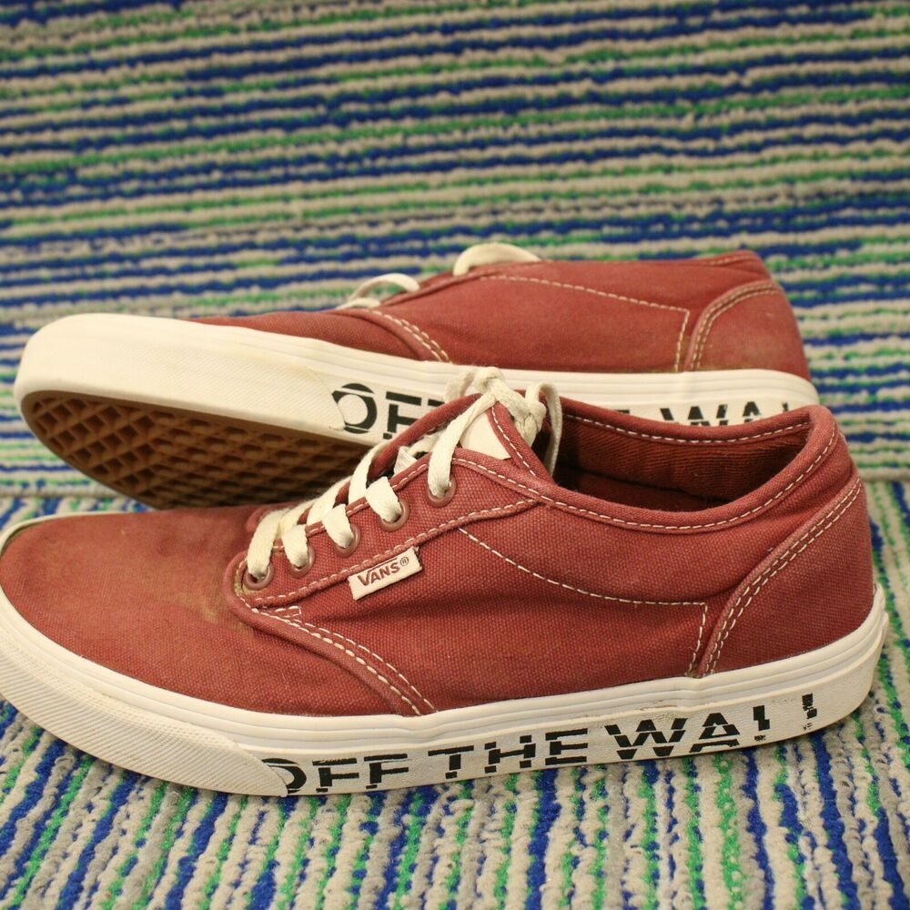 vans off the wall sneakers shoes low top skate red white on off the wall id=90205