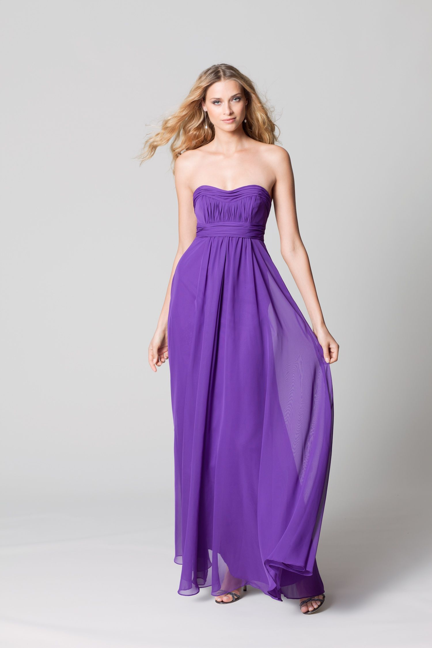 Fall 2012 WTOO by Watters bridal party bright purple chiffon | C\'s ...