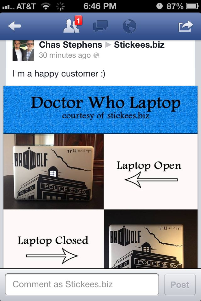 Dr Who Vinyl Decal On Laptop Check Out Our Website To Get Yours - Custom vinyl decals for laptop