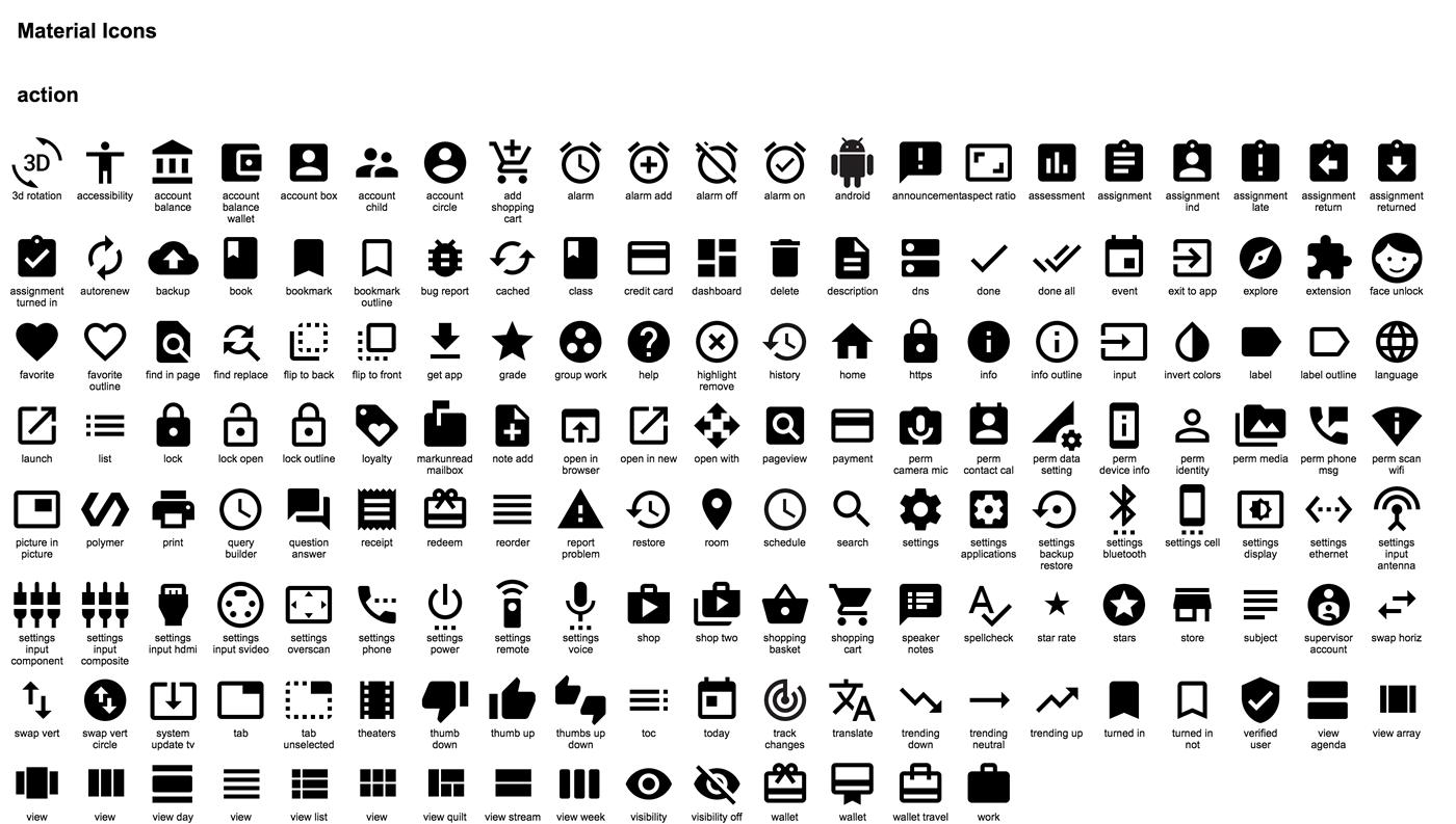 Google Material Design Icons Google Material Design Material Design Icon Design