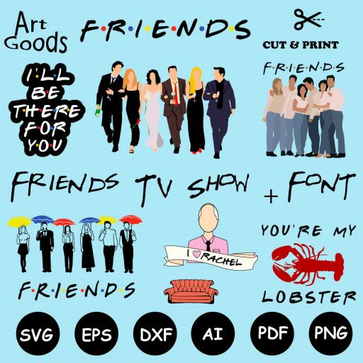 Friends Tvshow Friendssvg Friendsclipart Friendsvector In 2020 Friends Tv Show Friends Tv Friends Font