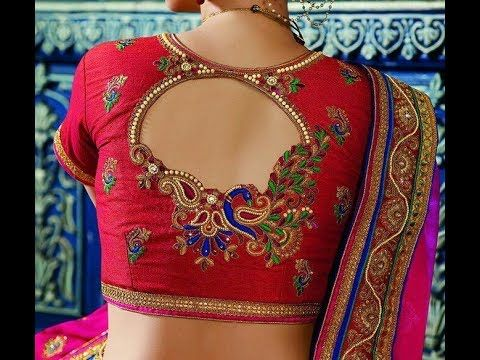 8fce1d9155543 Latest Silk Saree Embroidery Blouse Designs - YouTube