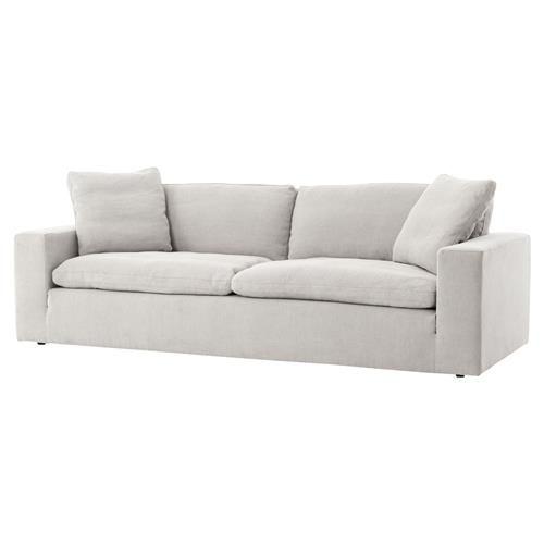 Macklin Modern Loft Block Arm Pewter Grey Sofa Modern Loft Modern Grey Sofa Gray Sofa