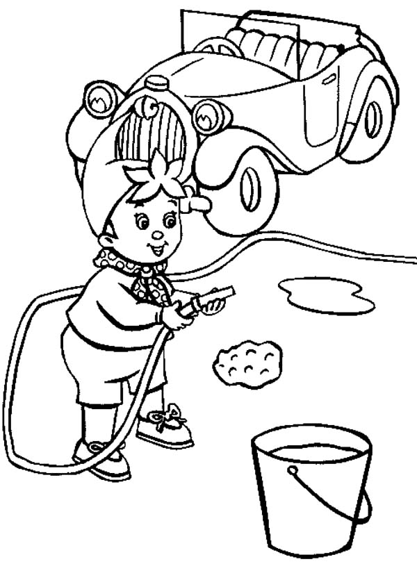Noddy Is Wash His Car Coloring Pages Best Place To Color Cars Coloring Pages Coloring Pages Coloring Pictures