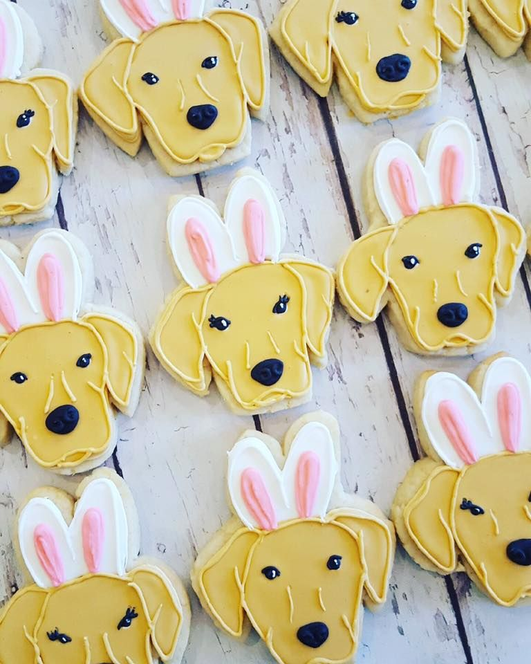 Bunny Puppy Face Hayley Cakes and Cookies Dog cookies
