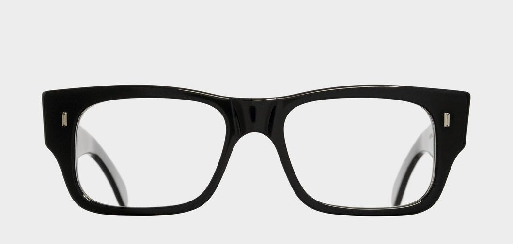 A classic, rectangular optical frame featuring a straight brow and ...