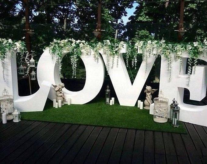 Large wedding sign, styrofoam large letters, giant foam sign, large wedding love letters, styrofoam letters, wedding love sign, table sign