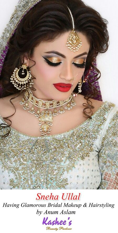 Gorgeous Indian Actress Sneha Ullal In Kashee S Pakistani Bridal Makeup And Hairstyling By Kashif A Pakistani Bridal Makeup Glamorous Hair Indian Bridal Makeup
