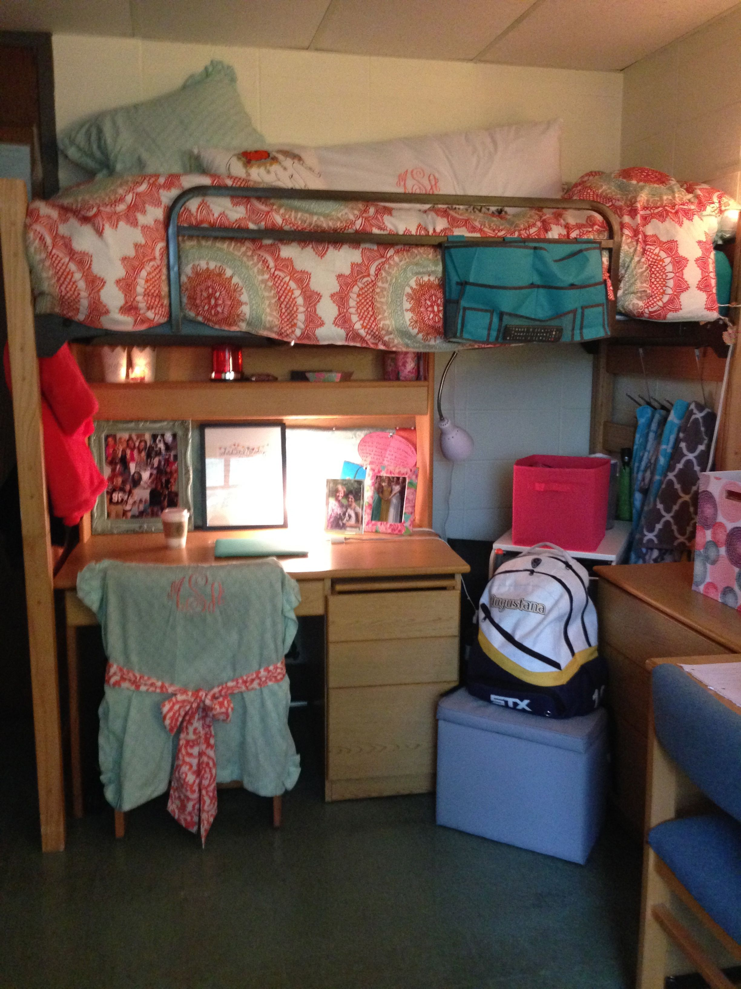 Augustana Dorm College Bunk Bed Monogram Chair Desk