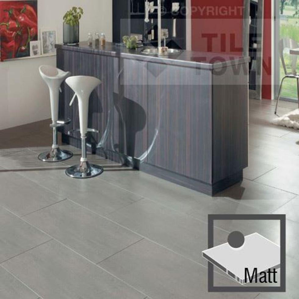 Lounge Light Grey Matt Porcelain Floor Tiles by RAK (tile factory ...