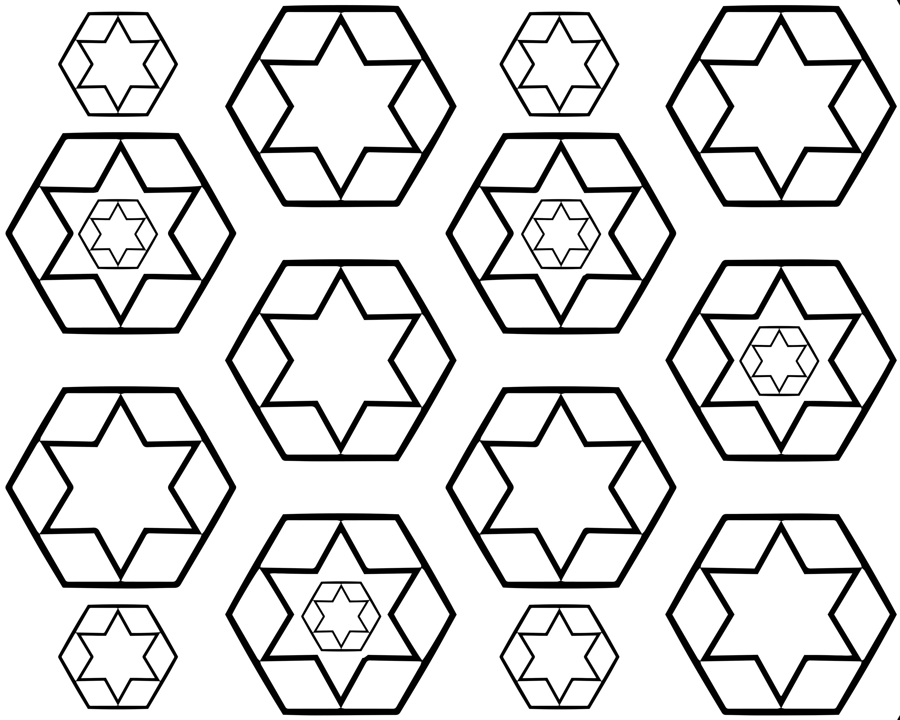 Free Star And Hexagon Pattern Adult Coloring Page Free Adult