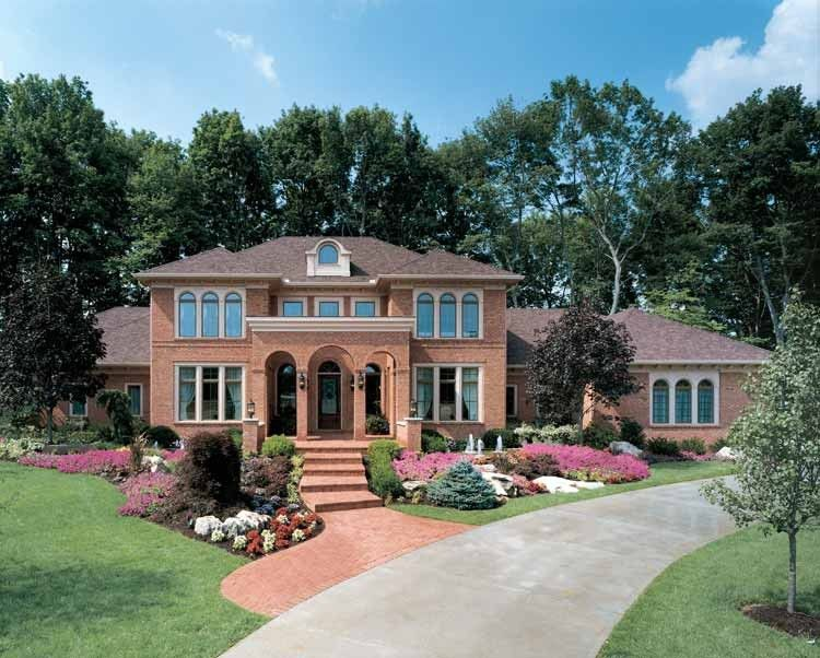 Italianate House Plan With 5143 Square Feet And 4 Bedrooms From Dream Home Source House Plan House Architecture Styles House Exterior Traditional House Plans
