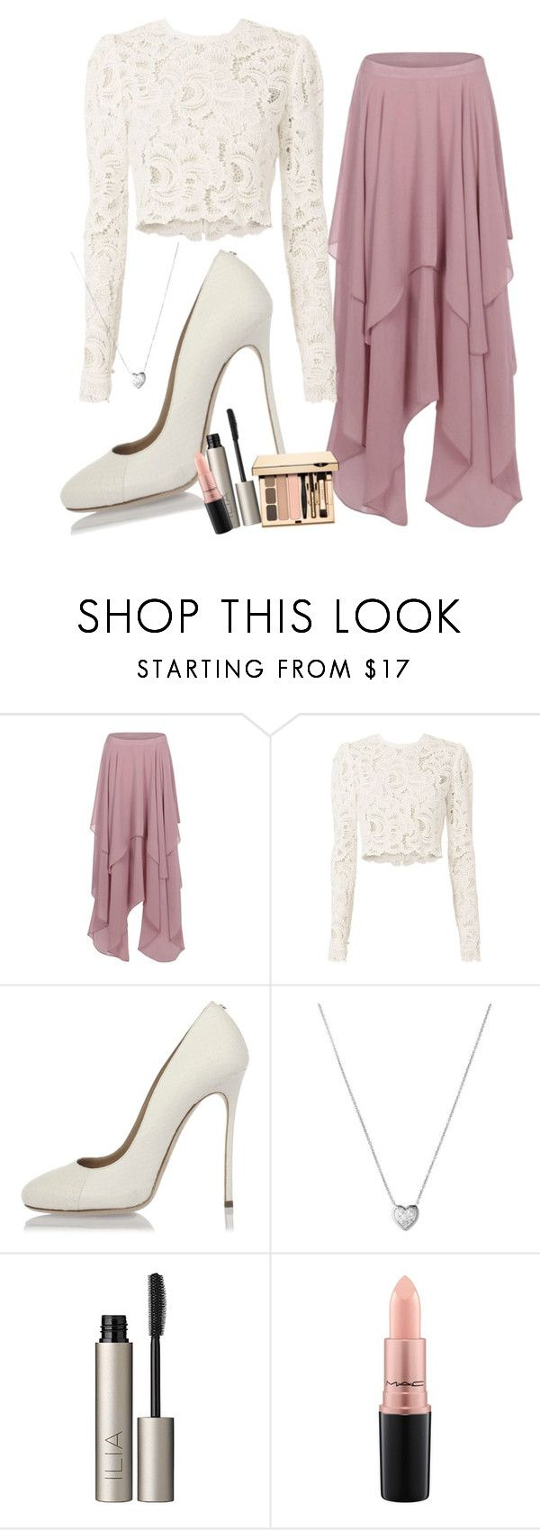 """Untitled #84"" by pancakes532 ❤ liked on Polyvore featuring Boohoo, A.L.C., Dsquared2, Links of London, Ilia and MAC Cosmetics"