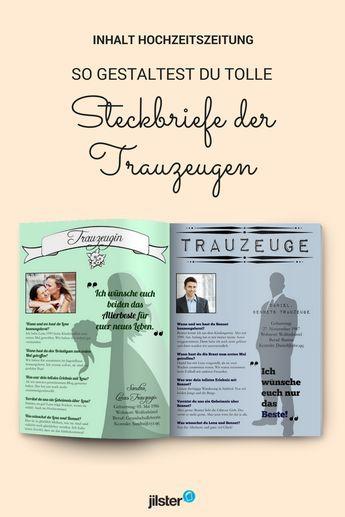 Photo of Gestaltungsprofile der Trauzeugen für die Hochzeitszeitung