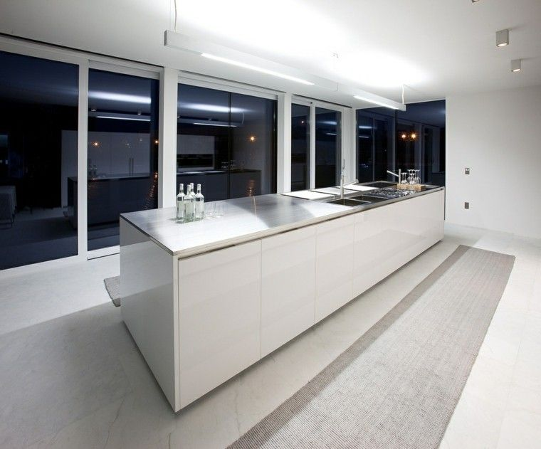 diseño de cocina blanca estilo moderno | COCINA | Pinterest | Diseño ...