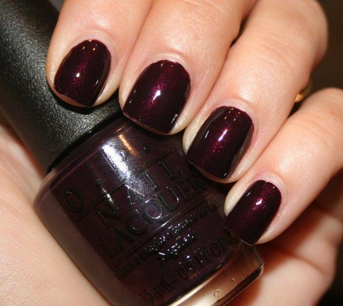 Black Gel Nail Polish: OPI Black Cherry Chutney --- One Of My Favorites For Fall