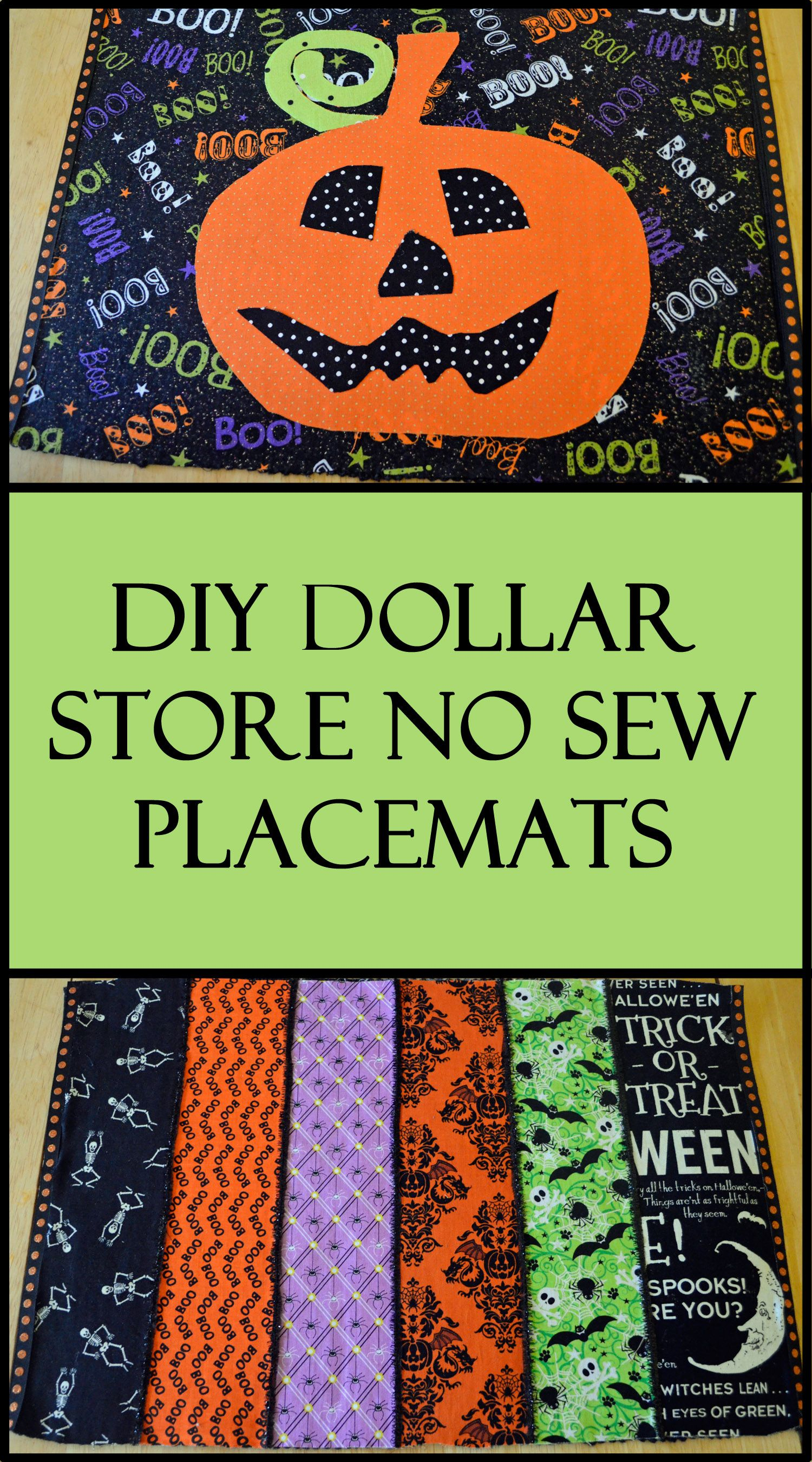 DIY Dollar Store No Sew Halloween Placemats - DIY Dollar Store No Sew Halloween Placemats Dollar Stores, Store
