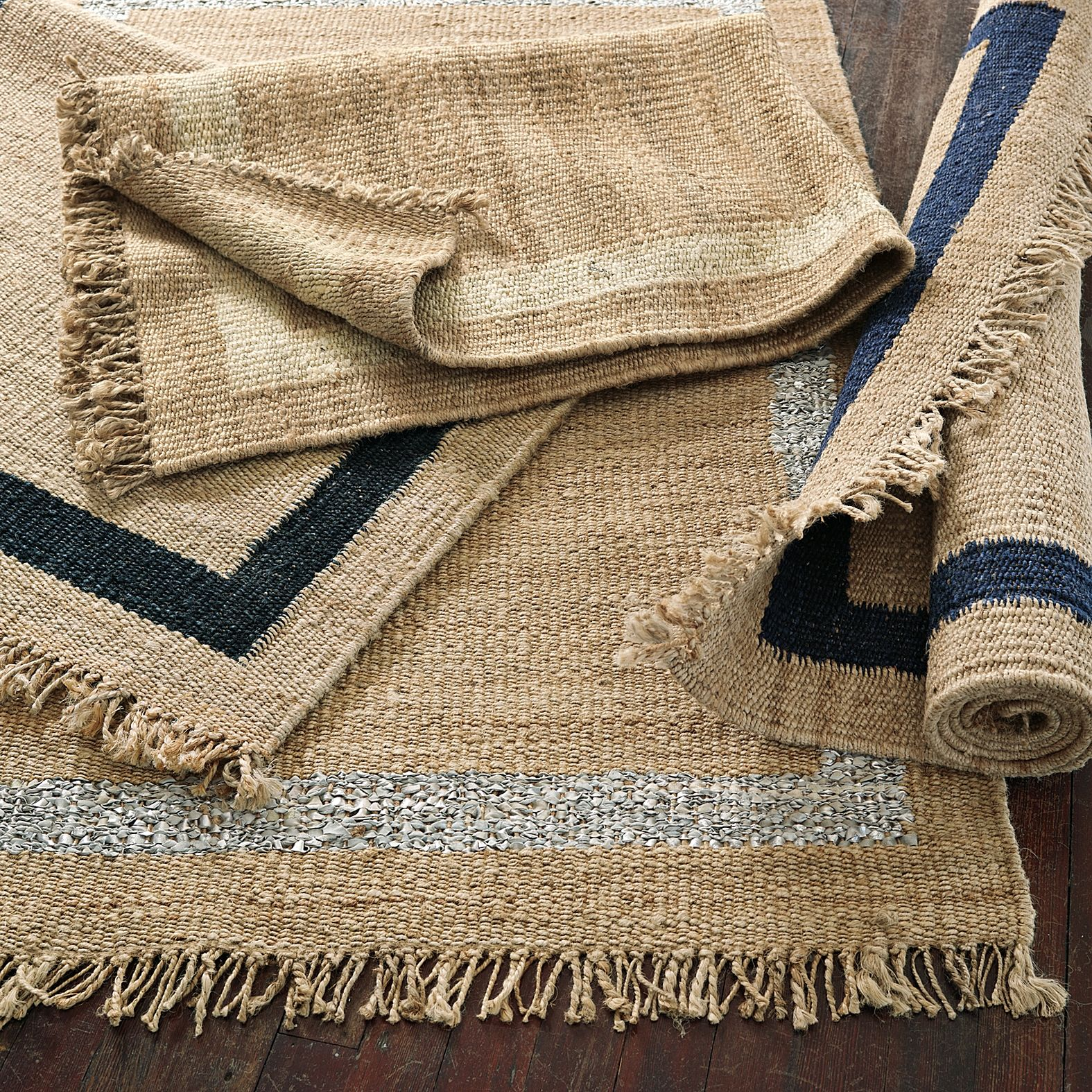 Jute Border Rug Metallic Silver Serena Lily Easy Diy With Paint