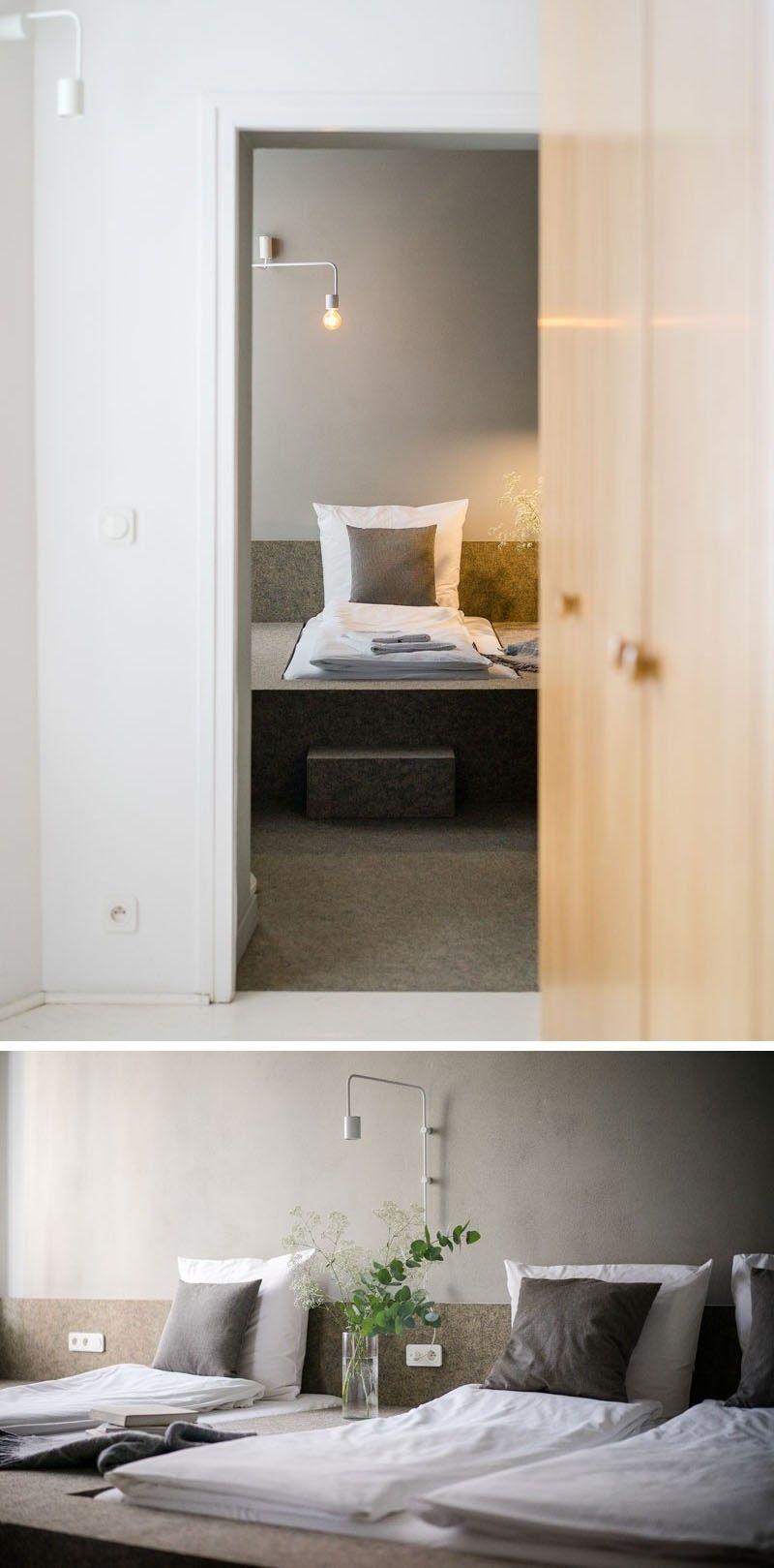 Kleine Schlafzimmer Design Idee U2013 Ein Teppichboden Einbaubett Plattform