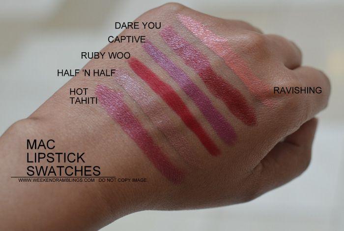 MAC Lipsticks swatches Indian Darker