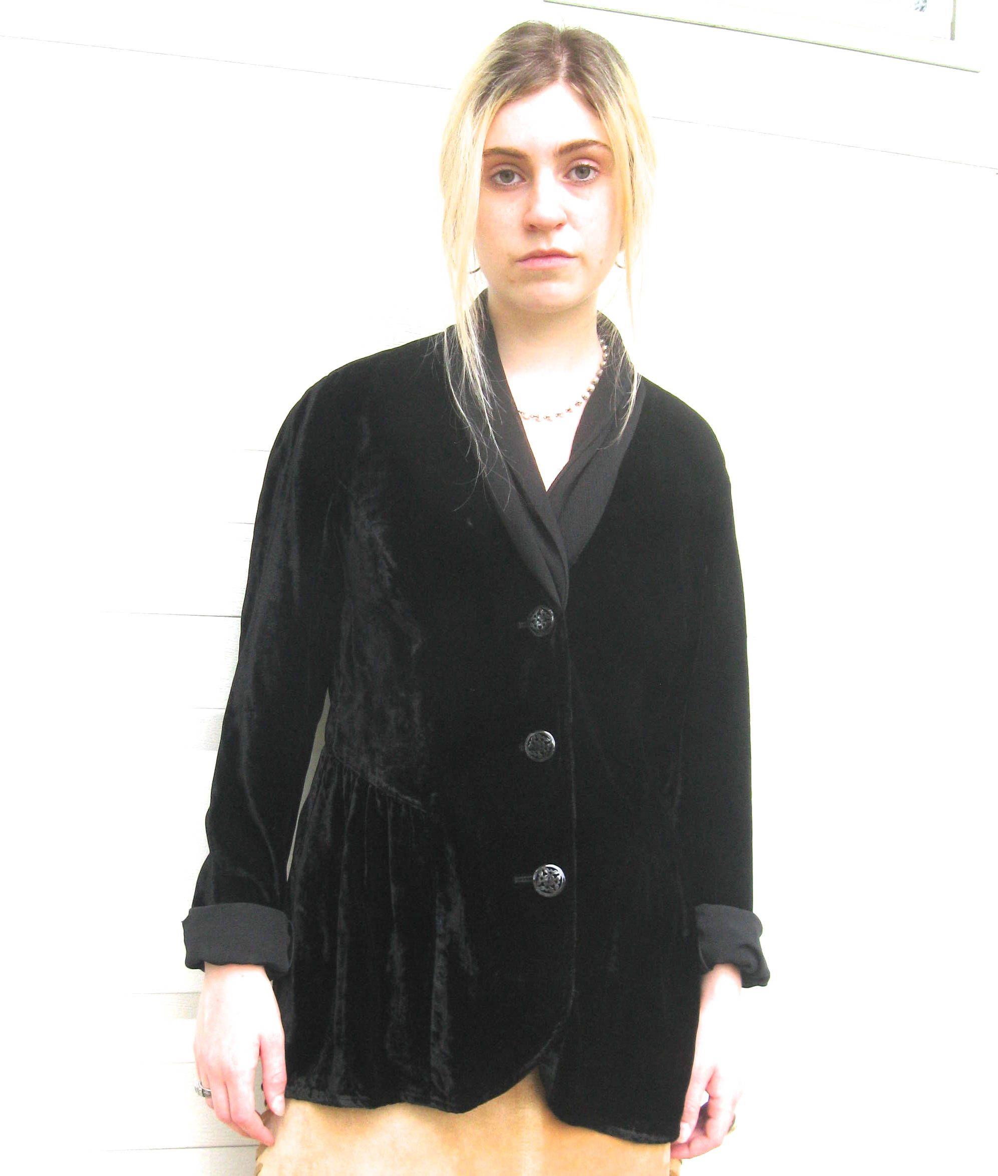 black velvet jacket J.jill velvet jacket black velvet J.Jill jacket size S