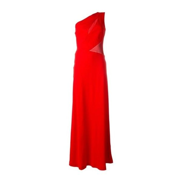 ALBERTA FERRETTI Red Gown Dress (€945) ❤ liked on Polyvore featuring dresses, gowns, red, asymmetrical dresses, alberta ferretti dress, red asymmetrical dress, red evening dresses and asymmetrical evening gowns