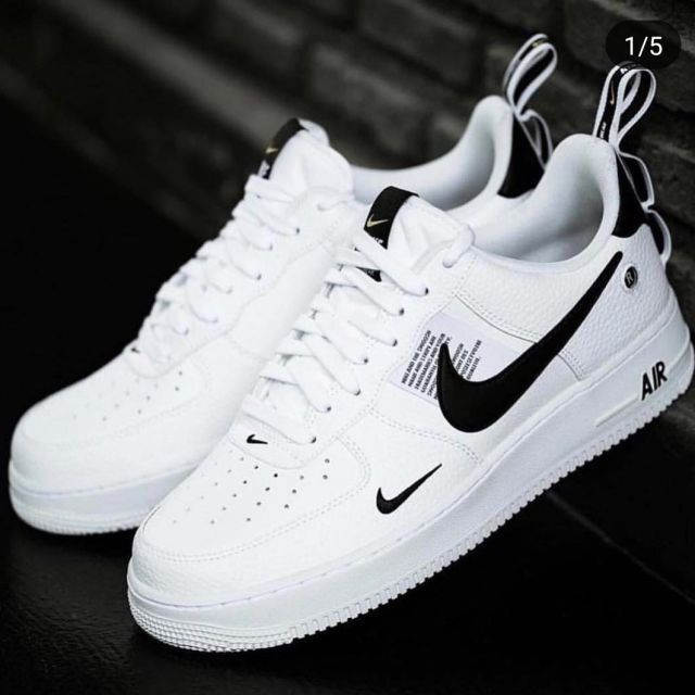 Nike Air Force 1 07 LV8 Utility White Black Yellow Men's ...