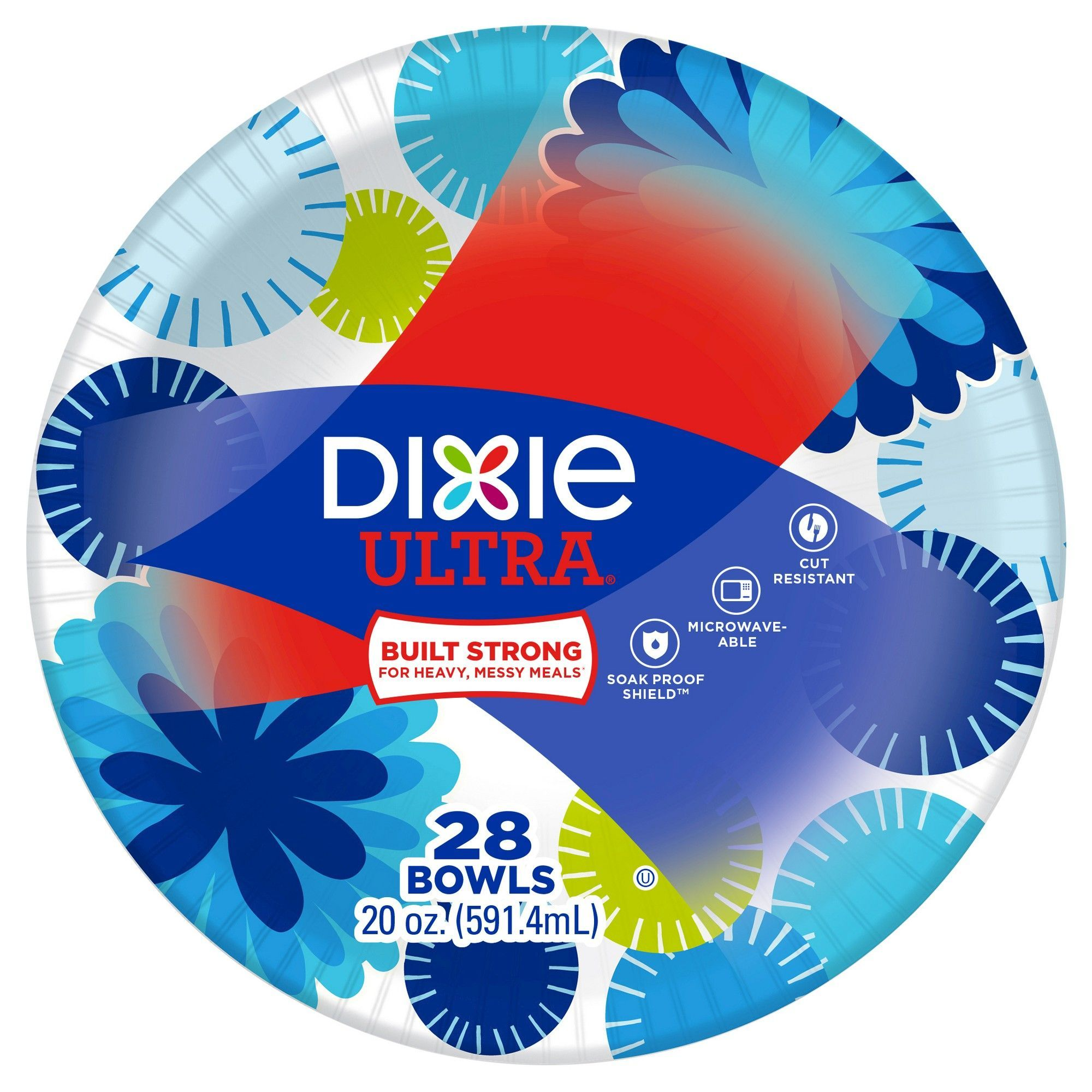 Dixie Ultra Dinner Paper Bowls 28ct/20oz Disposable