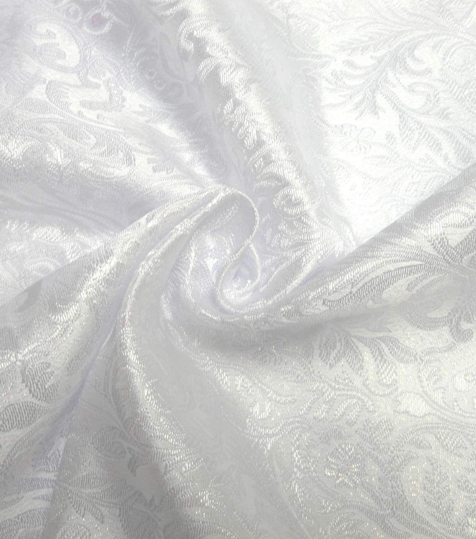 4ce45c419 Glitterbug Brocade Fabric -Iridescent White Paisley | cosplay ...