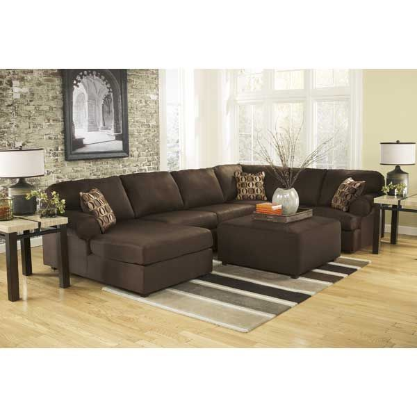 3PC Cafe Sectional w/ LAF Chaise E-307LC-3PC - Ashley - Cowen ...