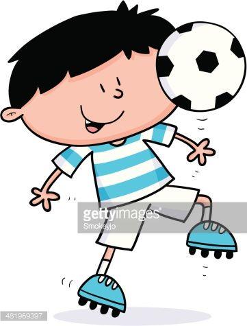 Pin De Margarita En Persfeltro Nino Jugando Futbol Ninos Jugando Dibujo De Ninos Jugando