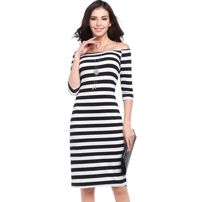 66ffc1fe79f 2017 New Free Shipping Sleeveless Sleeveless Sexy Slim Striped Buttock Dress  Women Casual Office Party Dress 731