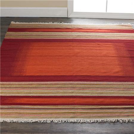 Canyon Stripe Kilim Flatweave Rug   Flat weave rug, Flat ...