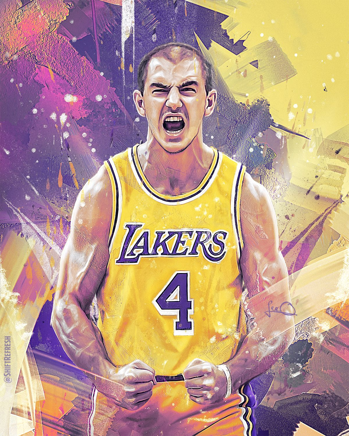 Alex Caruso Nba Art In 2020 Nba Pictures Nba Art Caruso