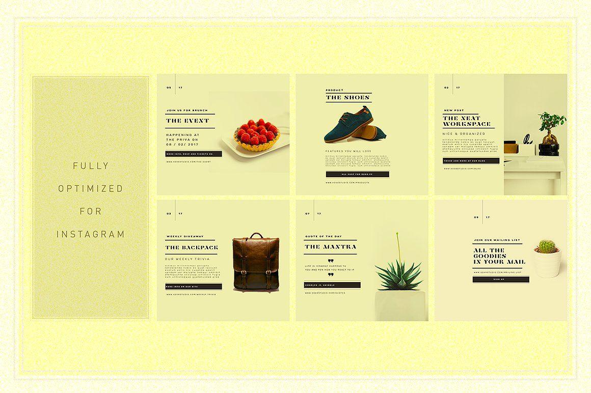 TANBIEGE Social Media Promo Posts by Vova on @creativemarket