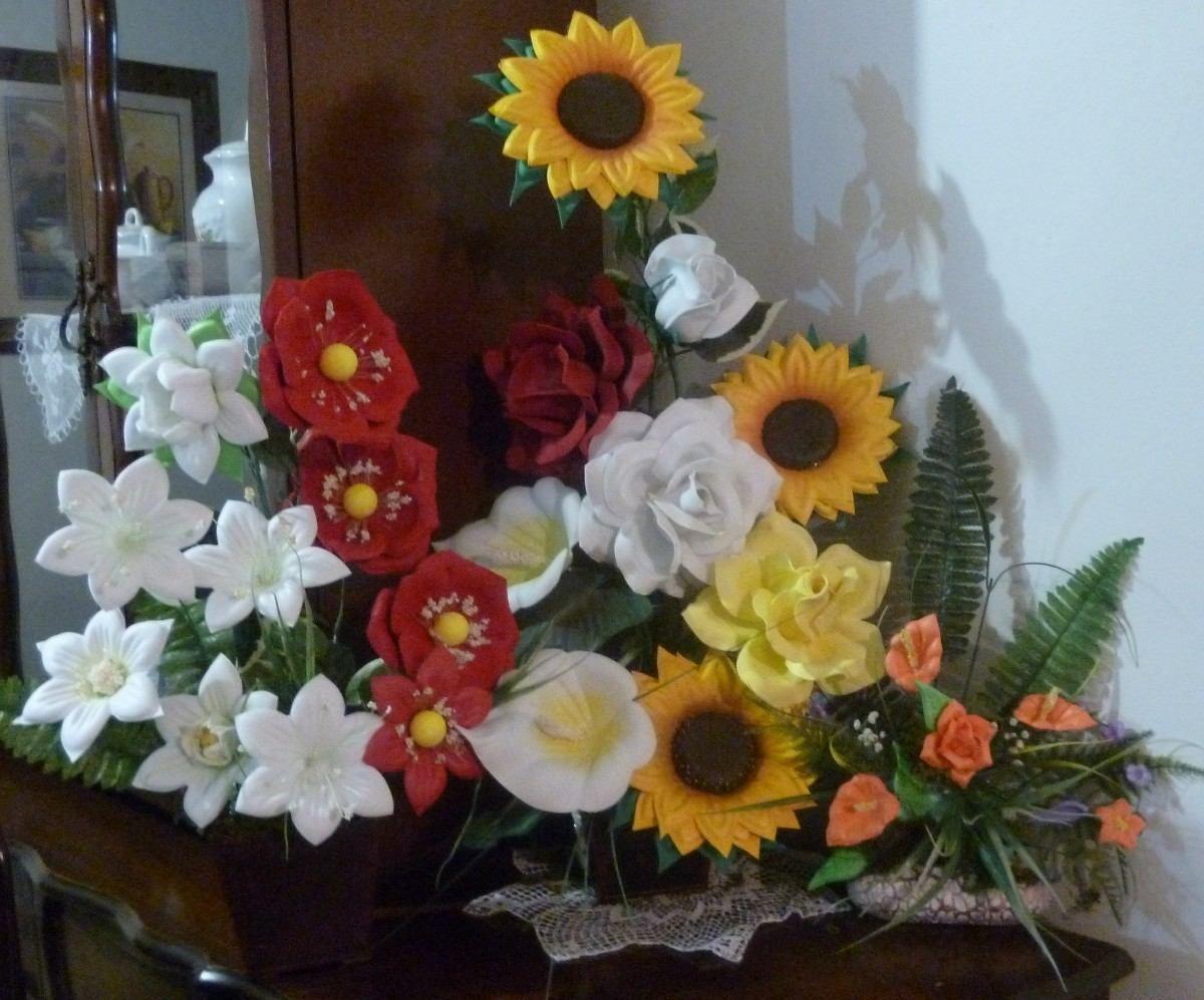 Moldes Para Fomi Termoformado - MercadoLibre México | Fake flowers, Rose  arrangements, Giant flowers