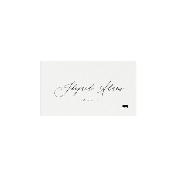 Adler Escort Card Template With Meal Icons AVERY 5302 Calligraphy 35x2 Avery