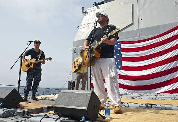 Toby Keith live aboard a Navy cruiser.