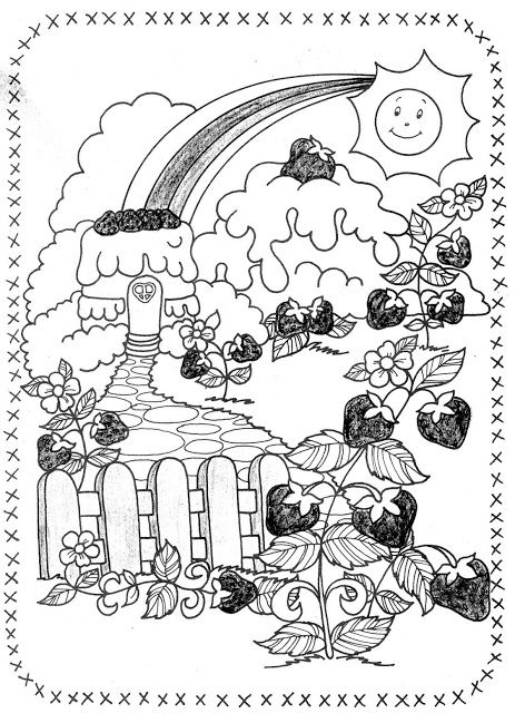 USED COLORING BOOK~Strawberry Shortcake and Her Friends - Bonnie ...