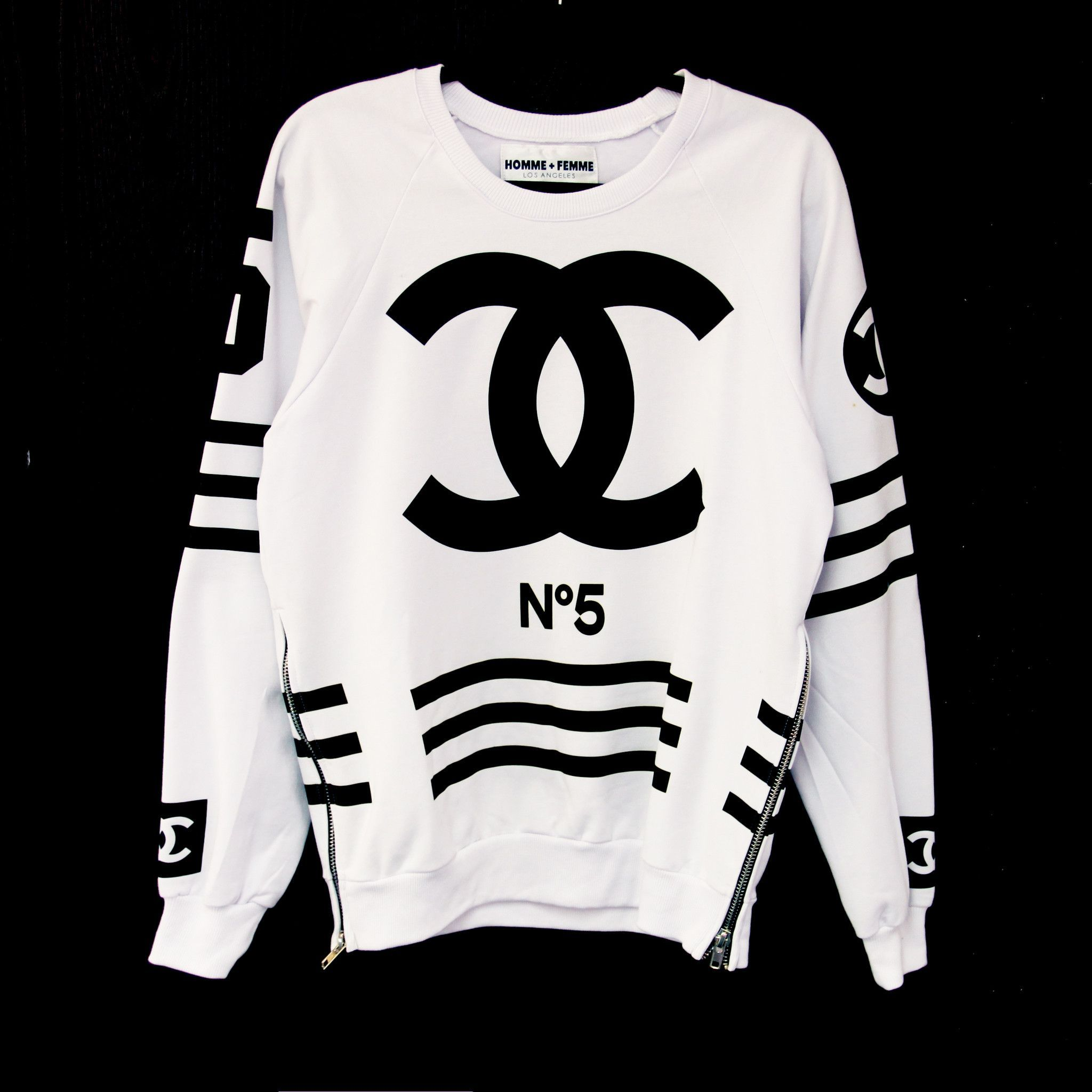 Homme Femme Hf Chanel No 5 Logo On Front Hf Coco 5 On Back 100
