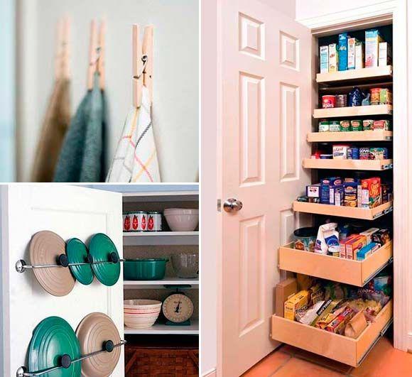 40 buenas ideas para organizar y ordenar la cocina ideas - Ideas para ordenar ...