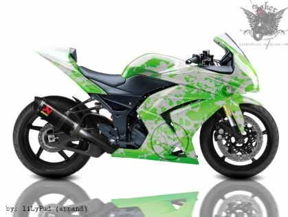 Custom 2012 Kawasaki Ninja 250r Girl Graphic Design