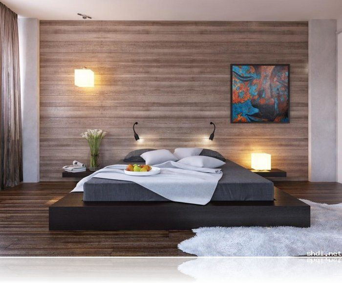 black platform bed decorative panels and wooden walls on  Bedroom  Wood Wall Panel  minimalist. Bedroom Wood Wall Panels