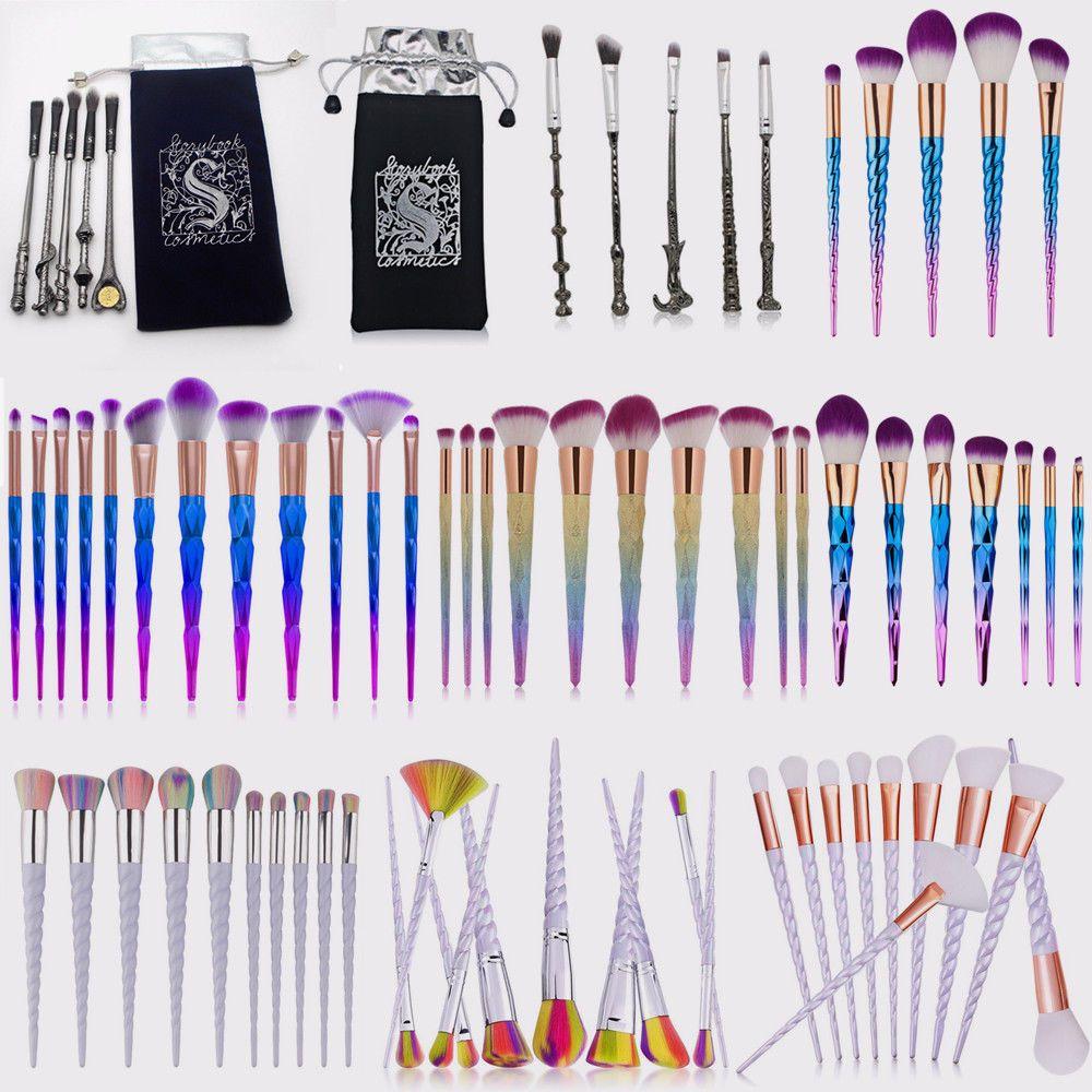 10pcs Kabuki Face Eyeliner Brush Thread Cosmetic Make Up